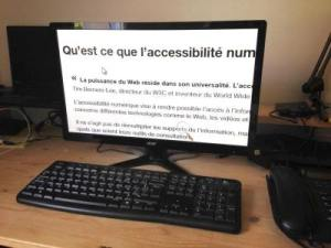 photo d'un ecran d'ordinateur avec zoom à 400%
